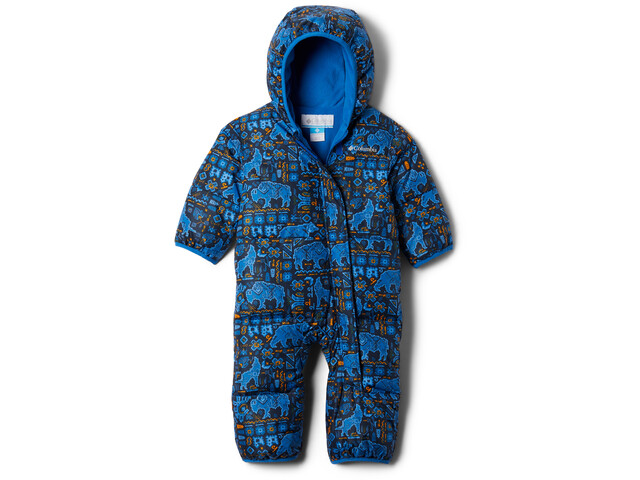 Columbia Snuggly Bunny Bunting Overall Baby, bright indigo fiercesome print
